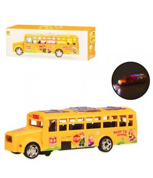 Игрушка школьный автобус, на батарейках (свет,звук)