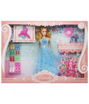 """Кукла с комплектом одежды """"Lovely"""", в голубом sv-66"""