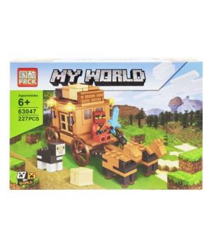 """Игрушка конструктор """"Minecraft - Майнкрафт - Майнкрафт. Повозка"""", 227 дет 63047"""
