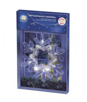 [BH0602-S] Акрилова прикраса на вікно зі світлодіодами Сніжинка