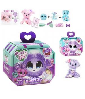 """Мягкая игрушка-сюрприз """"Scruff A Luvs: Snow Pals"""", фиолетовый щеночек 6166ABCD"""