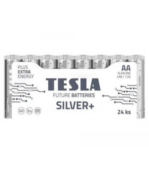 [AA SILVER+24M] Первинні елементи та первинні батареї, циліндричної форми, лужні TESLA BATTERIES AA SILVER+ 24 MULTIPACK ( LR06 / SHRINK 24 шт.)