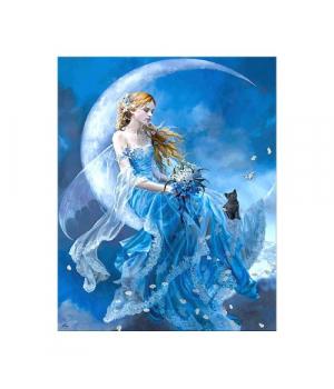 """Алмазная мозаика """"Девушка на луне"""" FA40488 40х50 см"""