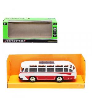 Игрушка автобус ЛАЗ, 1:32, металлический, свет,звук, красный