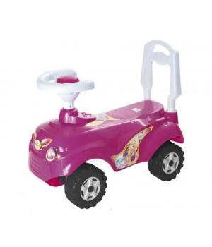 Машинка для катания толокар, розовый, с рулем