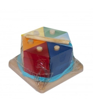 Игрушка пирамидка Цветной тортик, Руди