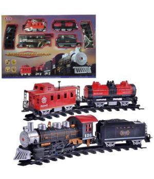 """Игрушка железная дорога """"Классический ретро поезд"""" с дымом 0695"""