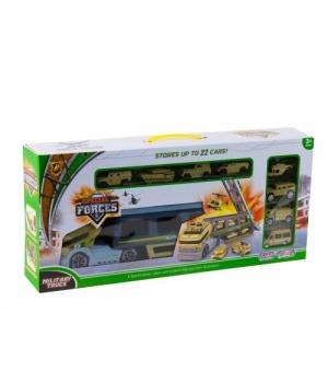 Іграшка фура з трейлером і військовою технікою HC153245