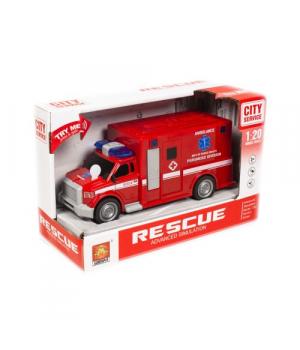 Пожарная машинка игрушка со звуком и светом, WENYI, WY670B