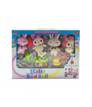 """Музыкальная карусель для детской кроватки, """"Babe Bed Bell: кролики"""" 3004/6/7"""