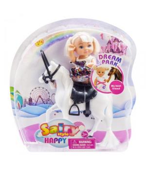 "Игрушка Кукла ""Defa"" на белой лошадке 8410"