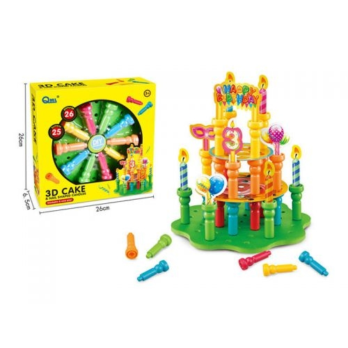"""Детский Конструктор-мозаика """"Торт"""", 25 кнопок, 26 картонок HC273252"""