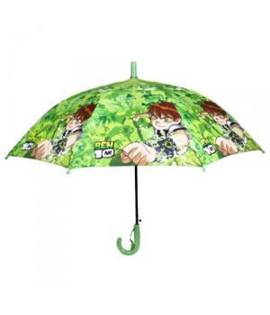 """Детский зонтик для мальчика """"BEN 10"""" (салатовый)"""