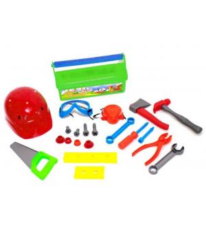 """Детский набор инструментов для мальчика """"Юный плотник"""" (салатовый) KW-32-005"""