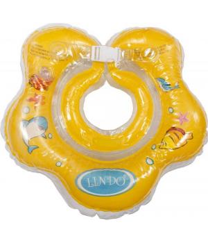 Круг для купания младенцев на шею (желтый) LN-1558