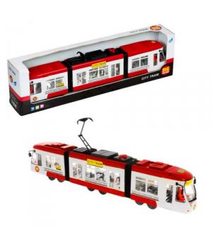 """Городской трамвай игрушка """"City Tram"""" (красный)"""