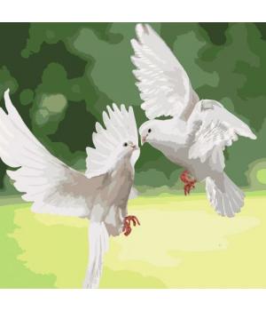 """Картина по номерам """"Белоснежные голуби"""" ★★★ КНО4149"""