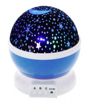 Вращающийся детский ночник звездное небо (синий) JDY705002938