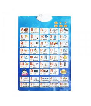 Обучающий плакат для дошкольников на русском, Азбука