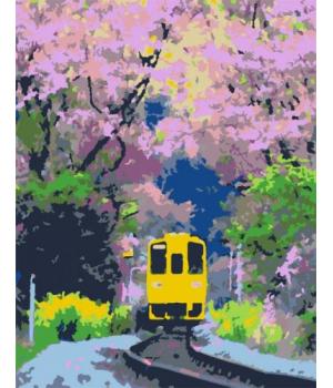"""Картина по номерам """"Яркий поезд"""" ★★☆ N00013174 35х45 см"""
