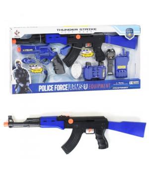 Детский набор полицейского с автоматом Калашникова АК-47, 8 элементов, Police Set