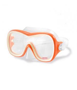 Детская маска для плаванья под водой, оранжевый, от 8 лет, Intex