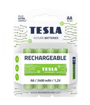 Батарейки аккумуляторные TESLA AA GREEN+ RECHARGEABLE (HR6), 4 штуки AA RECHARGEABLE+