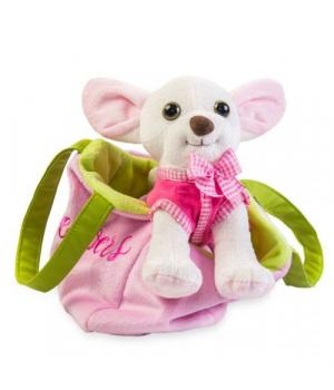 """Мягкая игрушка """"Чихуахуа"""" розовый СО-0103"""