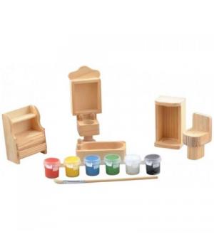 Фигурка из дерева для росписи Ванная комната, Роспись деревянных фигурок
