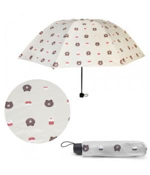 """Детский зонтик складной """"Мишки"""", белый, UM5672"""