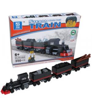 Игрушка конструктор Поезд, 350 деталей