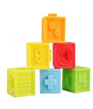 """Детские резиновые кубики """"Умняшки"""", 6 штук, Fancy"""