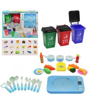 Игровой набор посудки с контейнерами, голубой 998-8A/B
