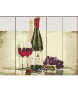 """Картина по номерам на дереве """"Вино для двоих"""" ASW116 40х30 см"""