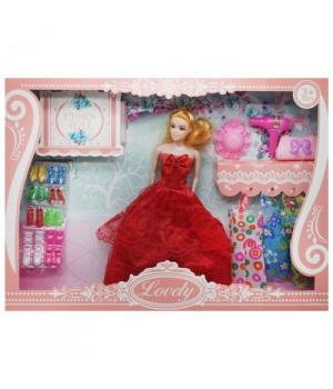 """Кукла с комплектом одежды """"Lovely"""", в красном sv-66"""