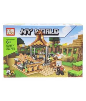 "Игрушка конструктор ""Minecraft - Майнкрафт - Майнкрафт. Карусель"", 223 дет 63047"