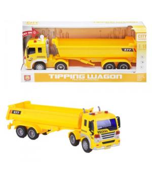 "Игрушка грузовик фура с прицепом, ""City Service"" желтый WY577A/B"