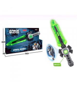 [KT8889-F90] Меч іграшковий SPACE, зі світлом, працює від батарей