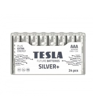 [AAA SILVER+24M] Первинні елементи та первинні батареї, циліндричної форми, лужні TESLA BATTERIES AAA SILVER+ 24 MULTIPACK ( LR03 / SHRINK 24 шт.)