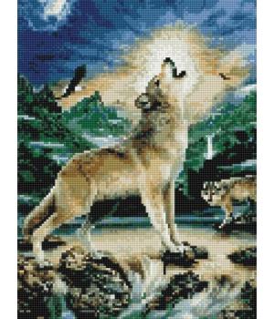 """Алмазная мозаика """"Волк под луной"""" EJ1006"""