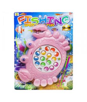 Игрушка рыбалка с крючками Крабик, розовый, 8865А