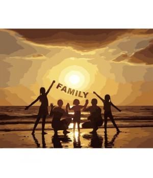 """Картина по номерам """"FAMILY"""" ★★★ VA-2658 40х50 см"""