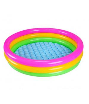 """Надувной бассейн для детей с надувным дном """"Цвета заката"""" Intex"""
