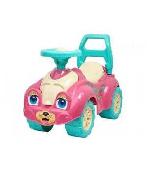 Машинка-каталка толокар для прогулок (розовая) 0823