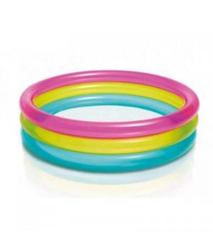 """Детский надувной бассейн для дачи """"Разноцвет"""", Intex"""