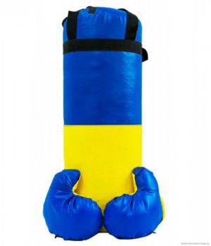 Боксерская груша с перчатками для детей от 7 лет, Украина, 55 см, 5 кг