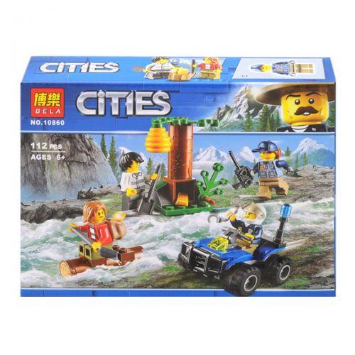 """Игрушка конструктор """"Cities: погоня"""", 112 дет 10860"""