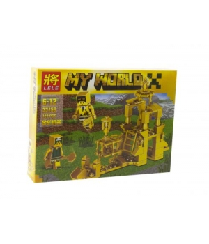"""Конструктор """"Minecraft"""" Золотая серия, 123 детали 33156"""