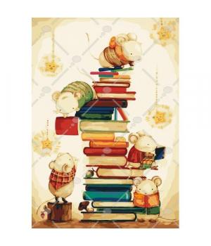 """Картина по номерам """"Маленькие читатели"""" КНО4111 35х50 см"""