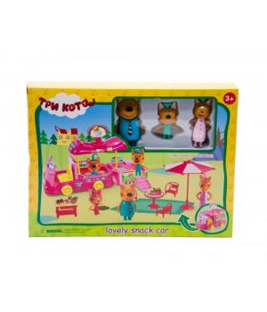 Набор игрушек три кота, Машинка с мороженым, M-8804